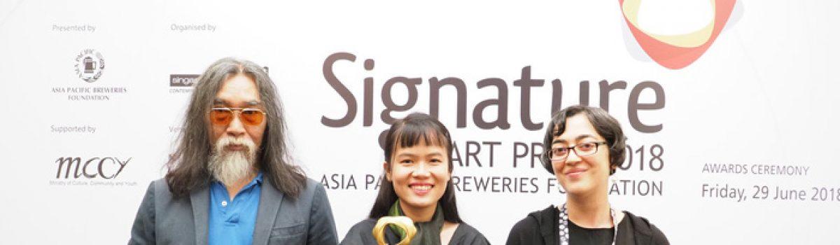 Phan Thảo Nguyên chiến thắng Giải thưởng lớn Signature Art Prize 2018
