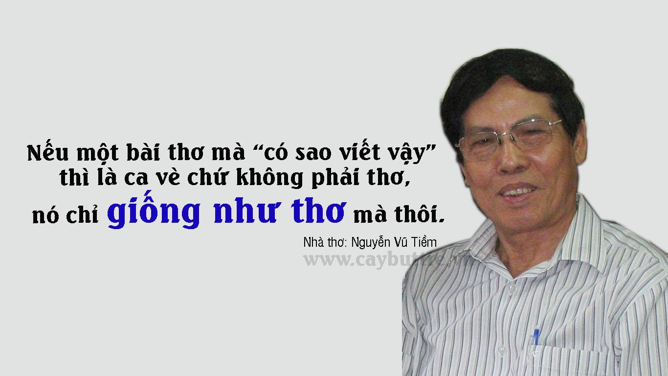 """phan biet tho va tac pham giong nhu tho - Phân biệt Thơ và những tác phẩm """"giống như Thơ"""" - Nguyễn Vũ Tiềm"""