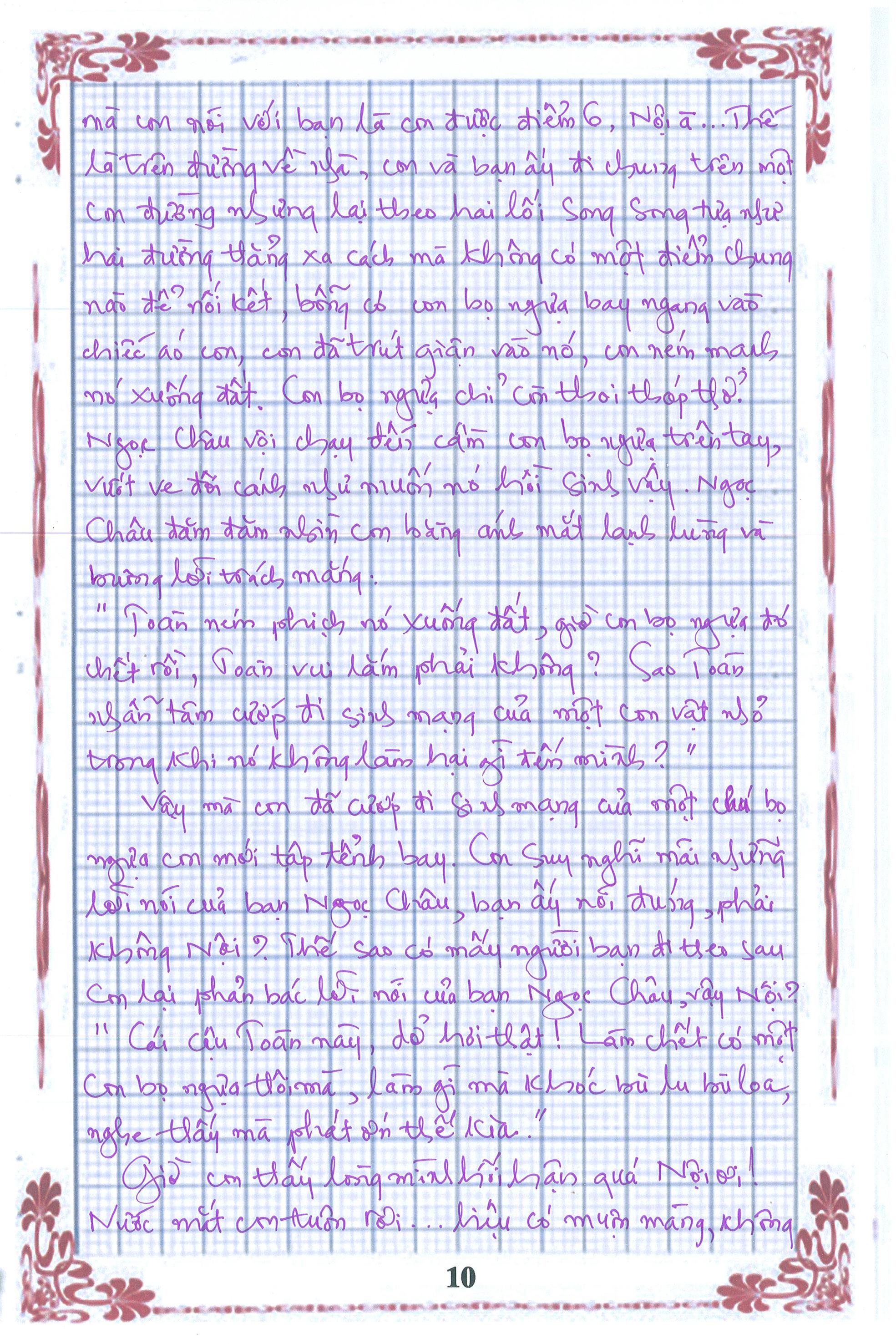 10 - [20/11 và những lá thư tay]: Bức thư mùa thu gửi Nội...