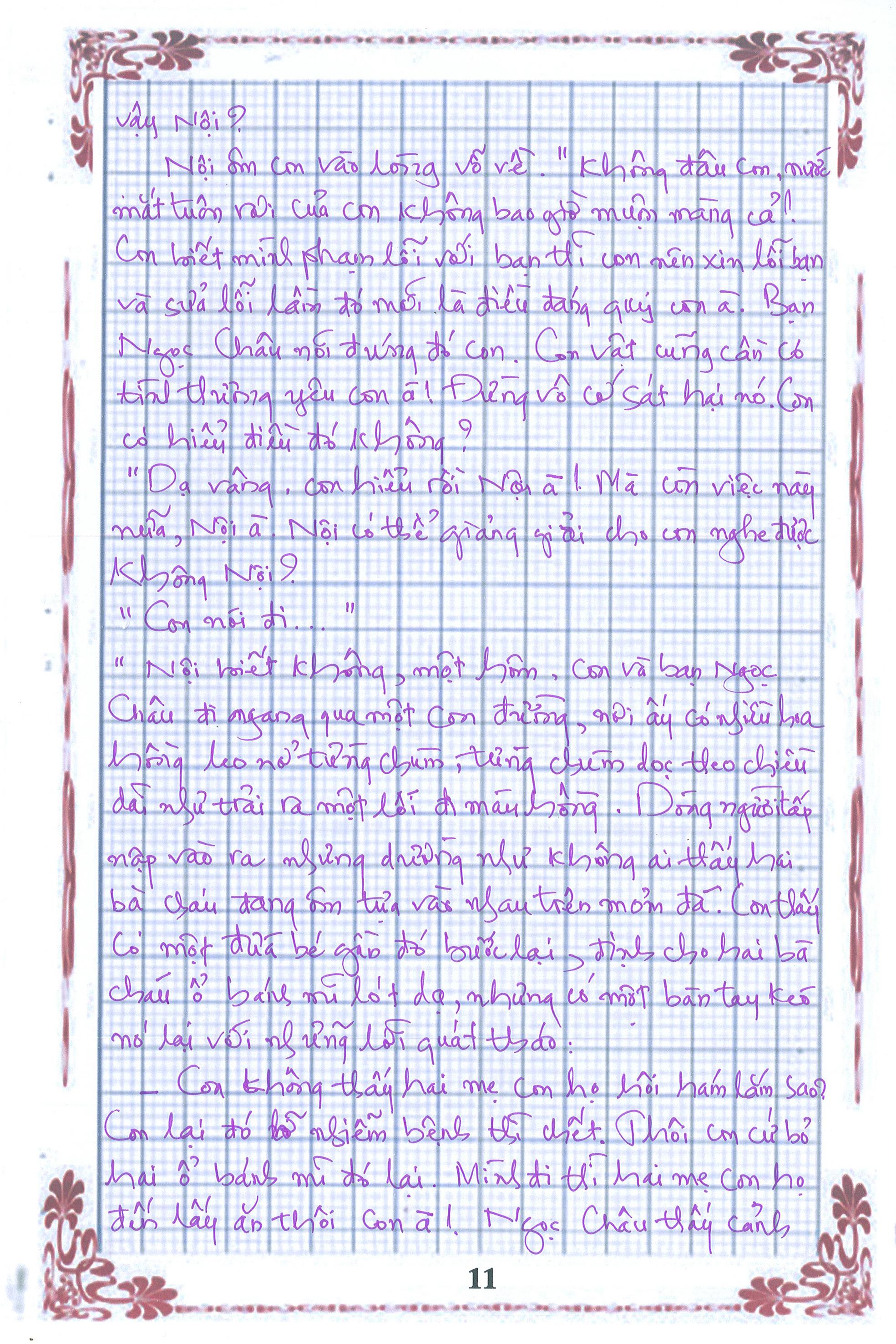 11 - [20/11 và những lá thư tay]: Bức thư mùa thu gửi Nội...
