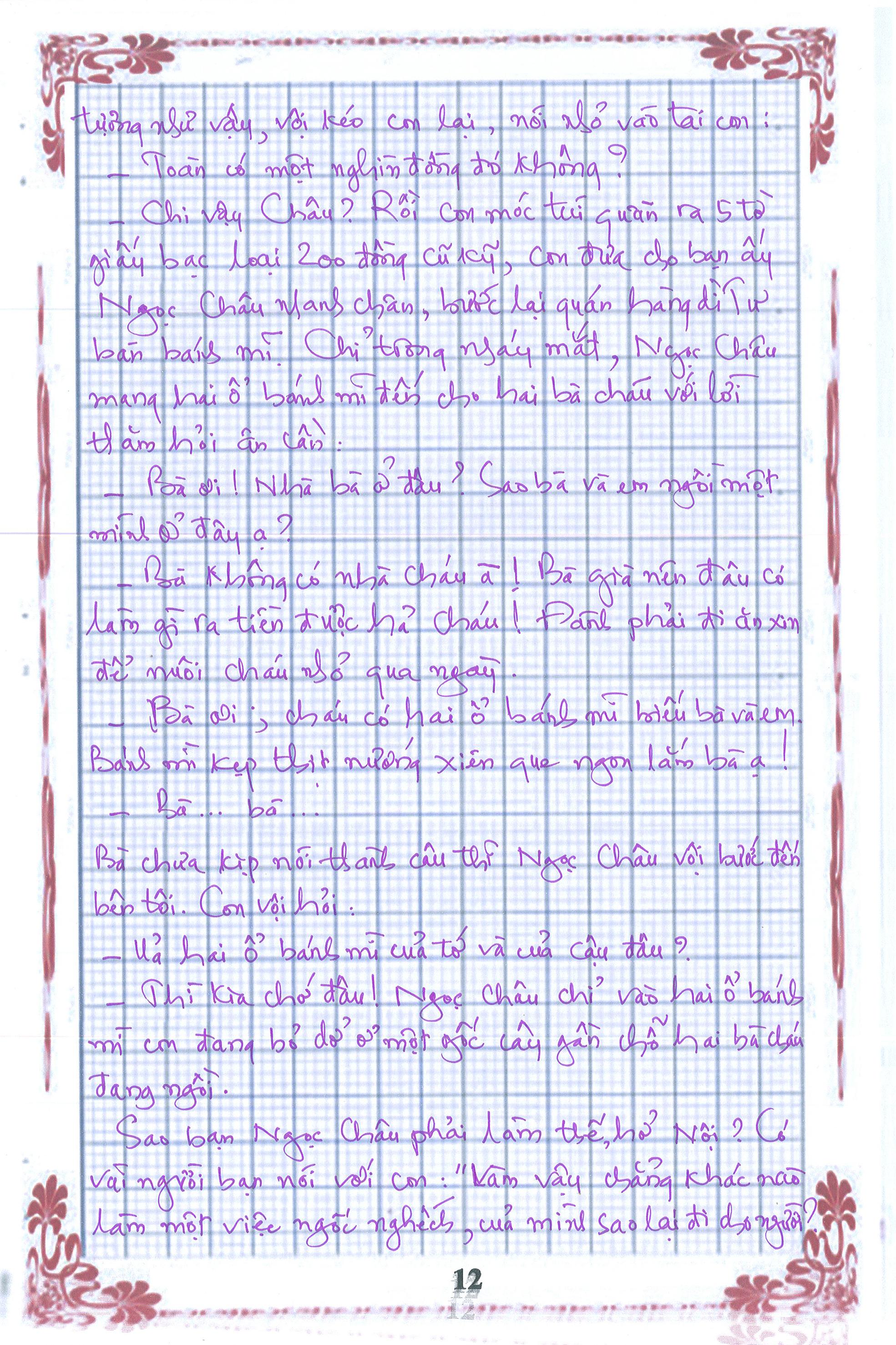 12 1 - [20/11 và những lá thư tay]: Bức thư mùa thu gửi Nội...