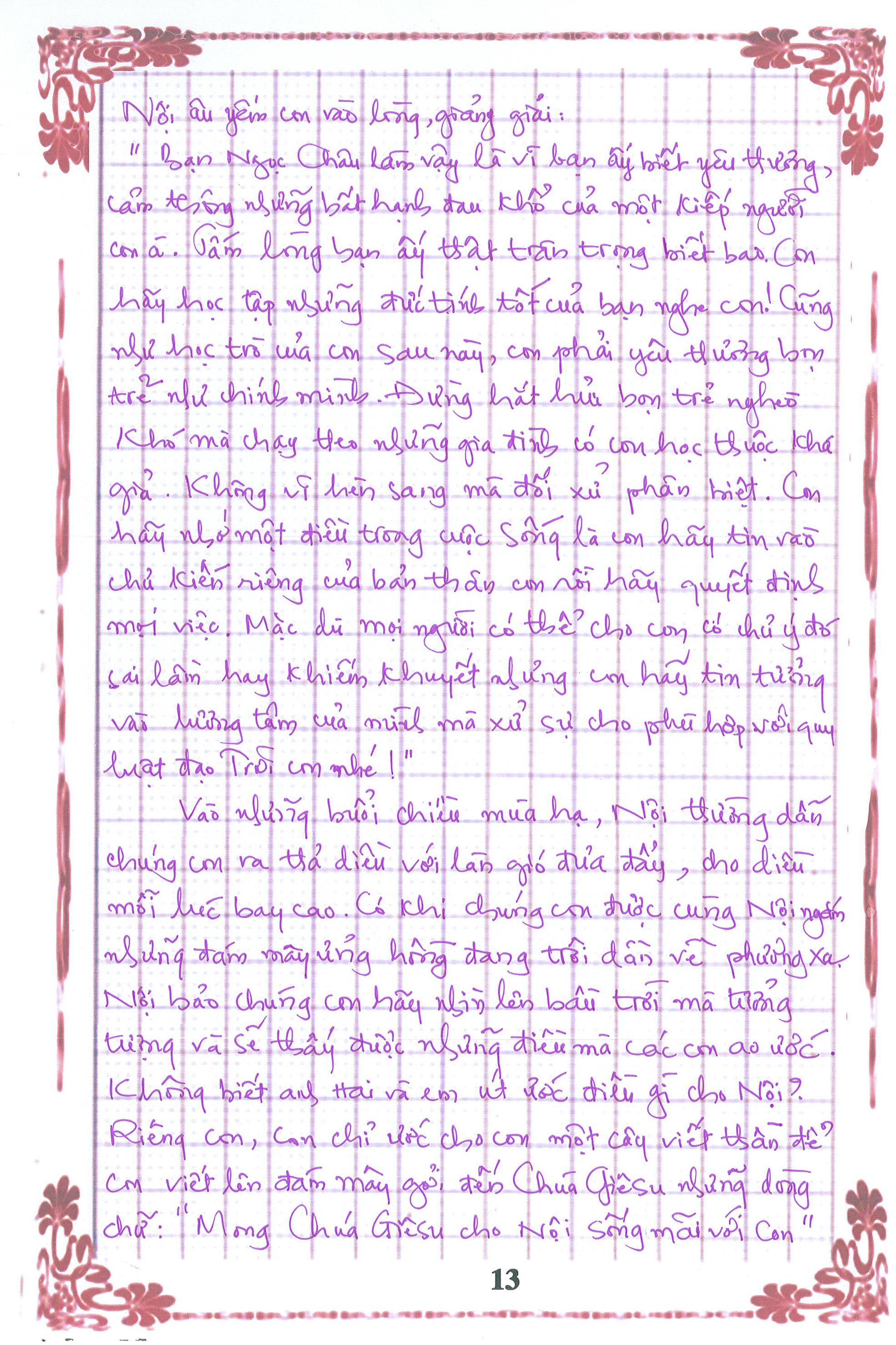 13 - [20/11 và những lá thư tay]: Bức thư mùa thu gửi Nội...