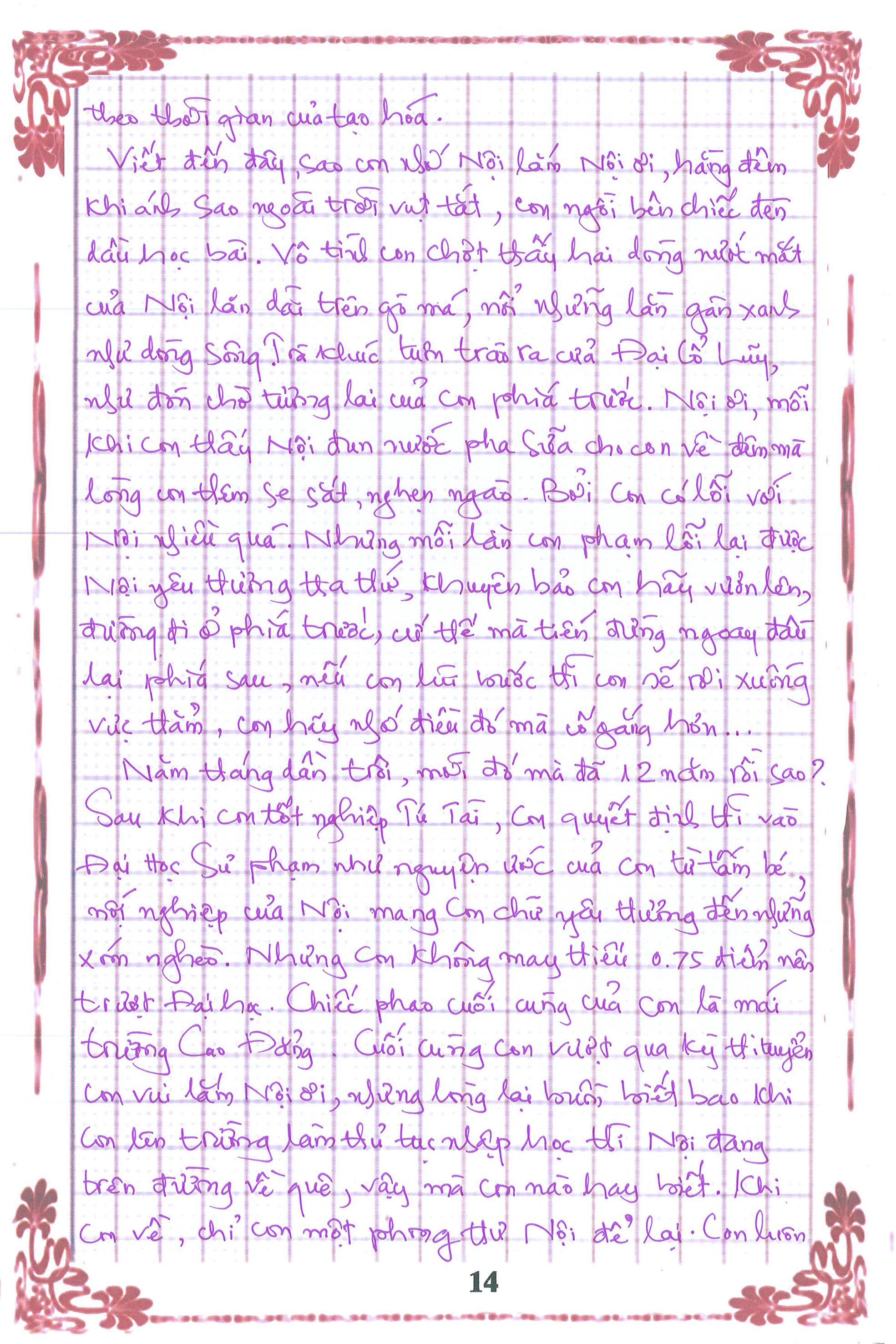 14 - [20/11 và những lá thư tay]: Bức thư mùa thu gửi Nội...