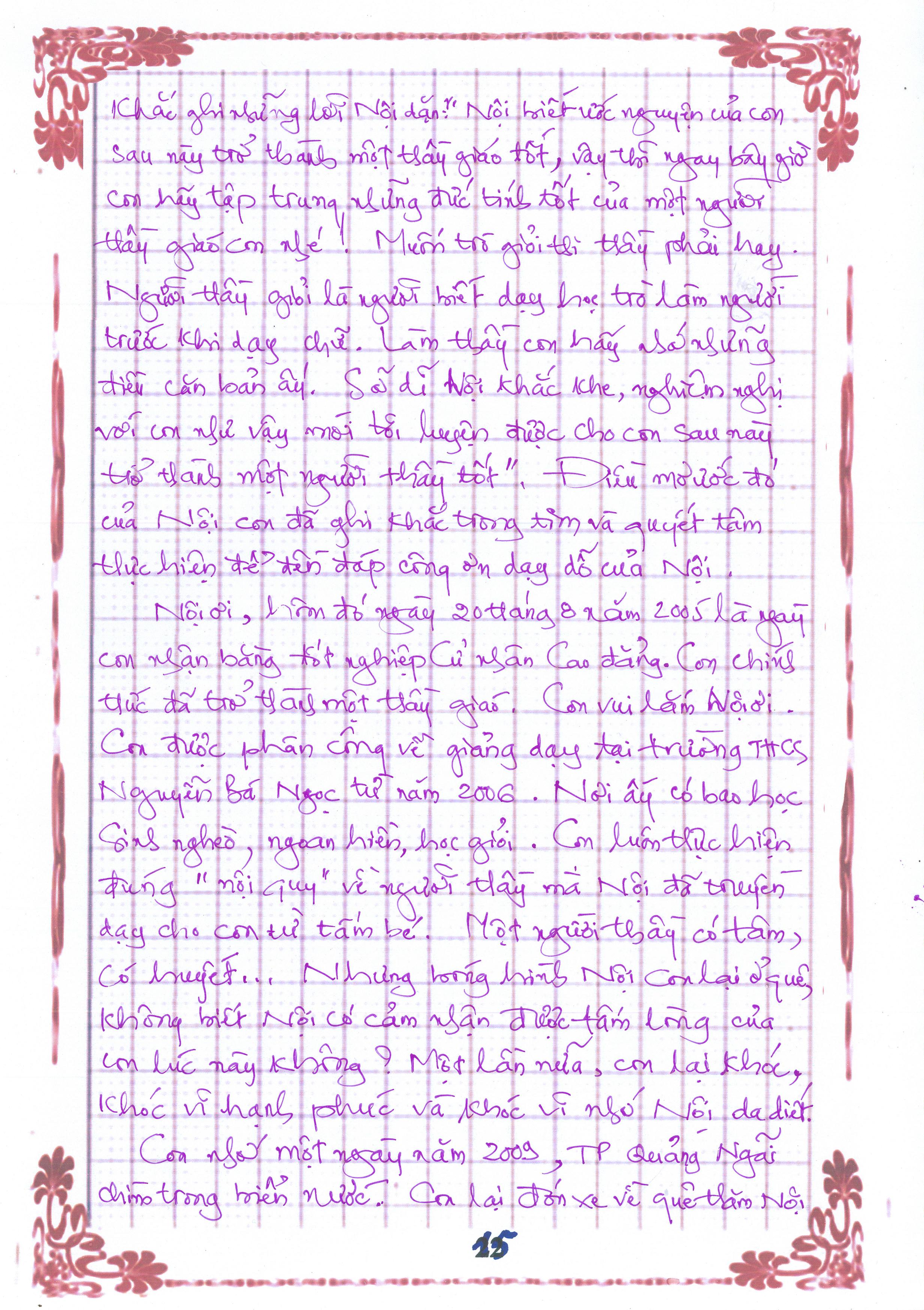 15 1 - [20/11 và những lá thư tay]: Bức thư mùa thu gửi Nội...