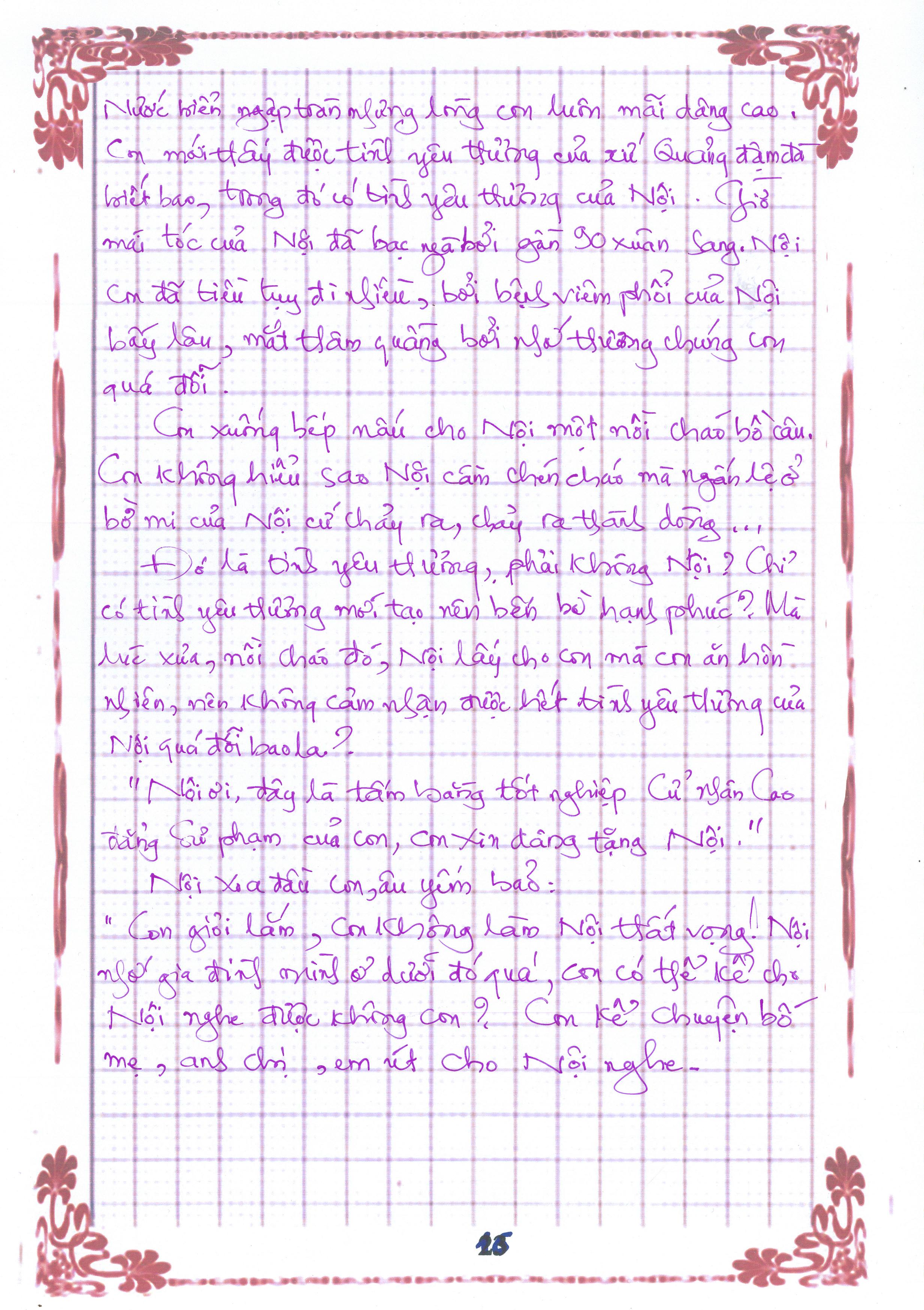 16 1 - [20/11 và những lá thư tay]: Bức thư mùa thu gửi Nội...