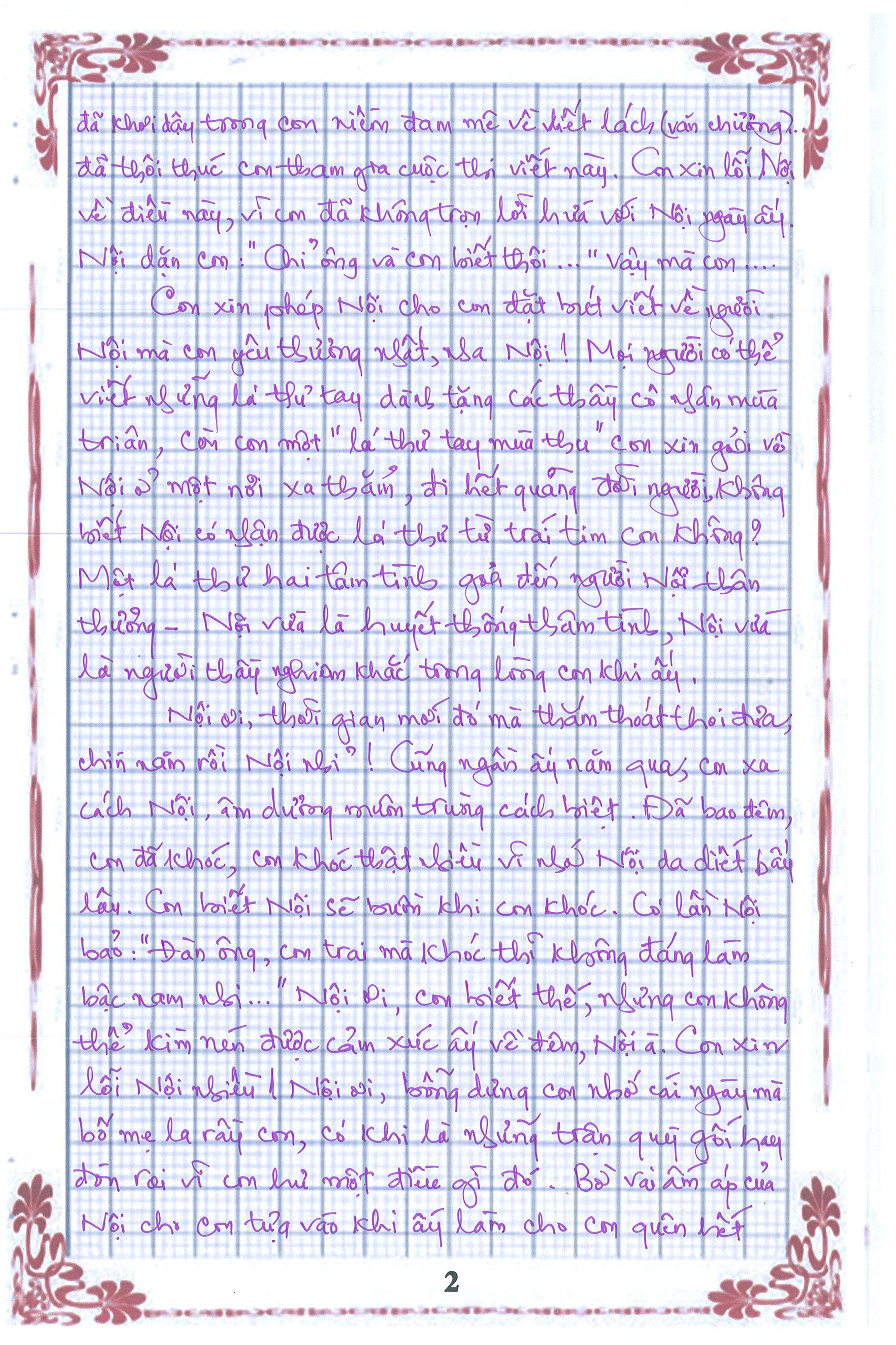 2 2 - [20/11 và những lá thư tay]: Bức thư mùa thu gửi Nội...