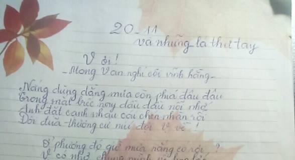 20 11 và những lá thư tay - [20/11 và những lá thư tay]: V ơi...