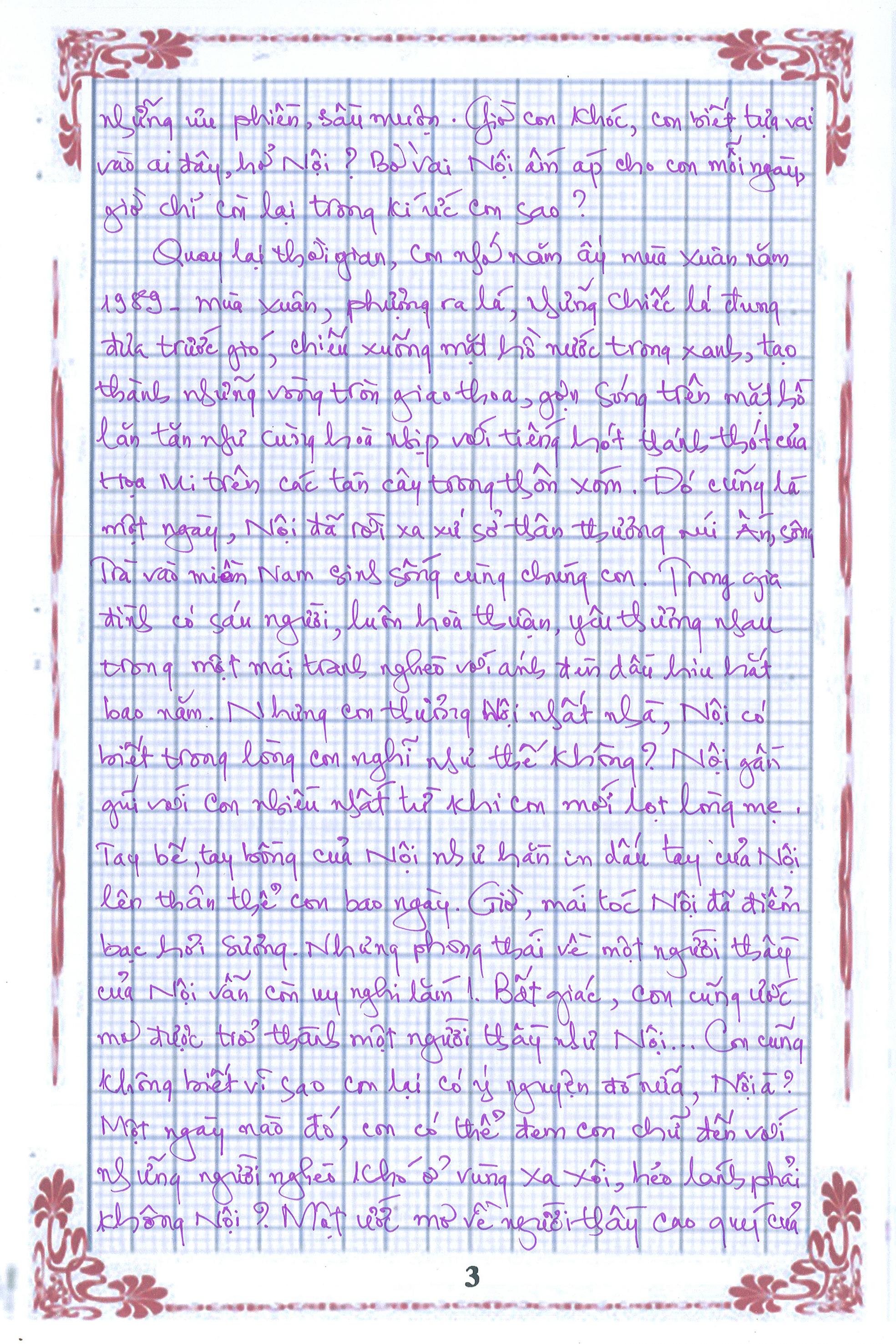 3 2 - [20/11 và những lá thư tay]: Bức thư mùa thu gửi Nội...