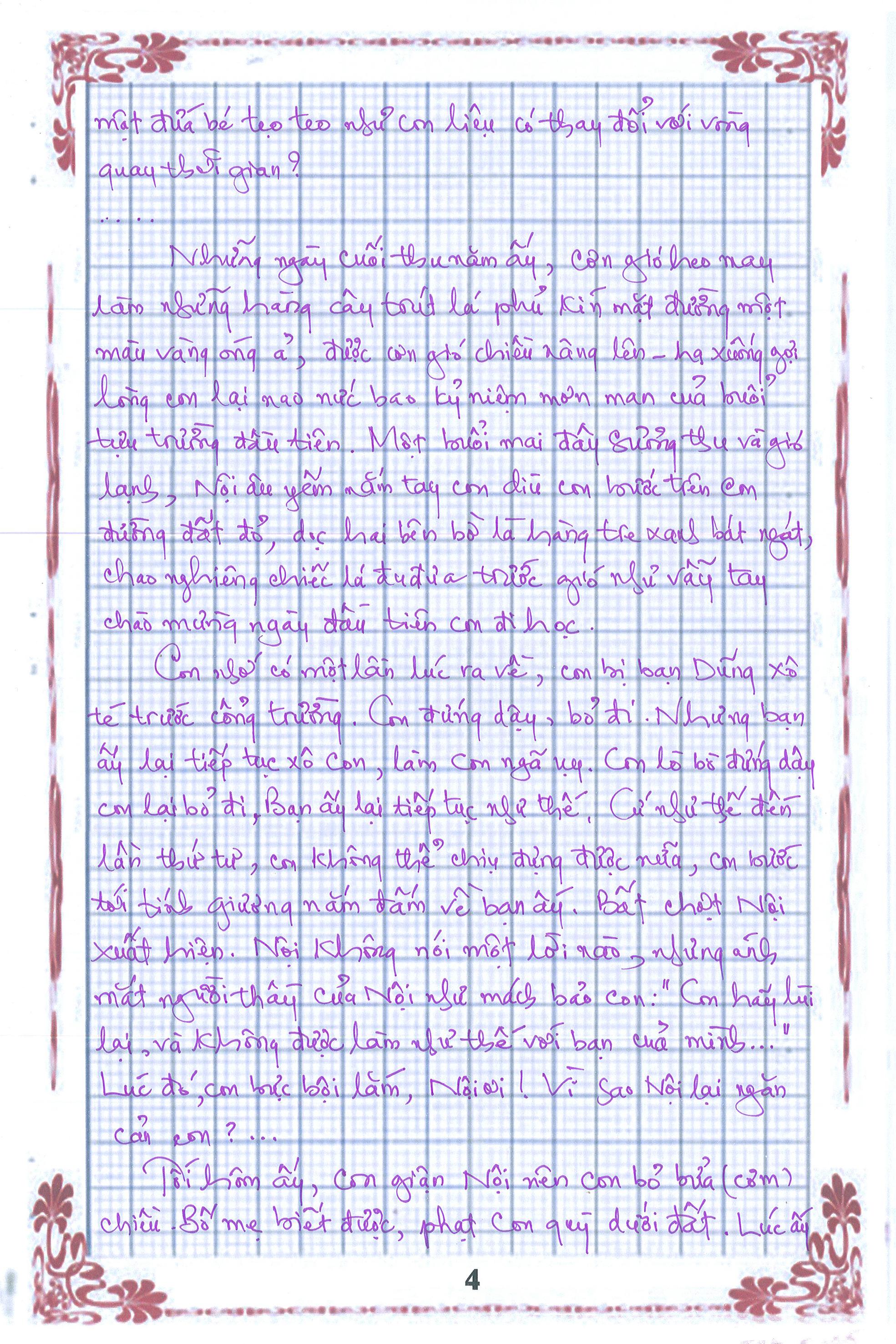 4 - [20/11 và những lá thư tay]: Bức thư mùa thu gửi Nội...