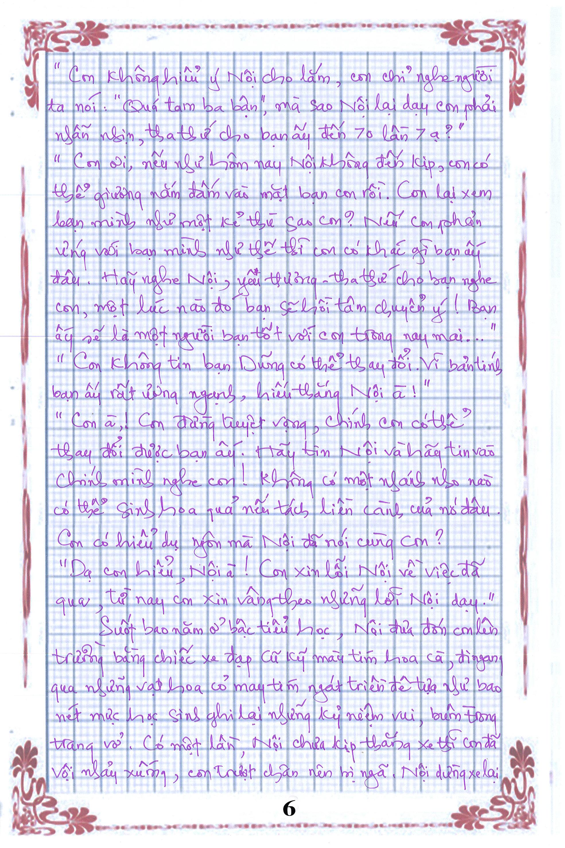 6 - [20/11 và những lá thư tay]: Bức thư mùa thu gửi Nội...