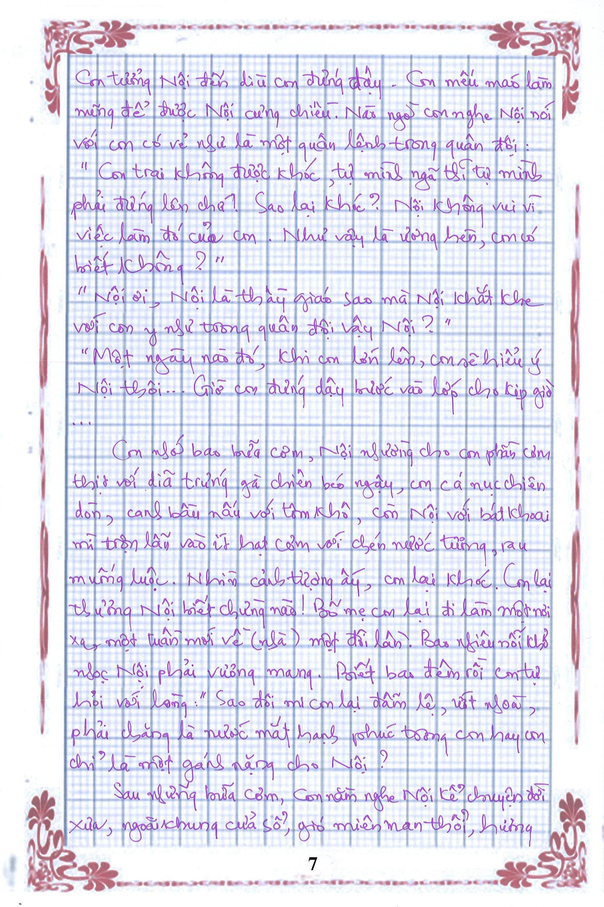 7 - [20/11 và những lá thư tay]: Bức thư mùa thu gửi Nội...