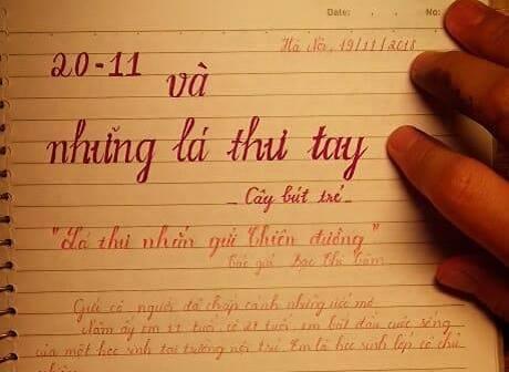 bttt - [20/11 và những lá thư tay]: Lá thư nhắn gửi Thiên Đường