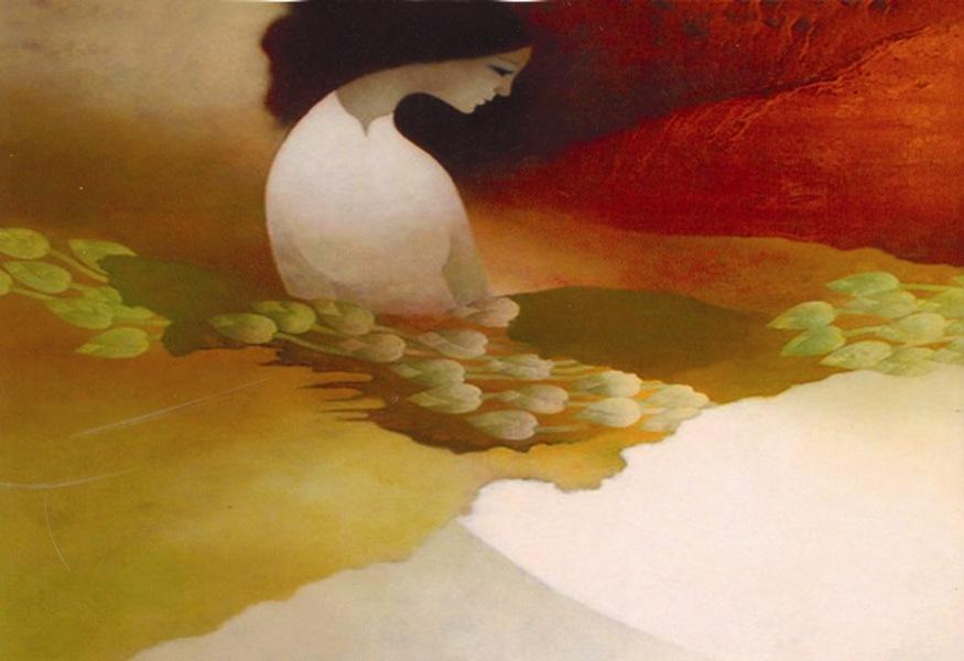 minh hoa song dem - Sông đêm - thơ Hoàng Oanh