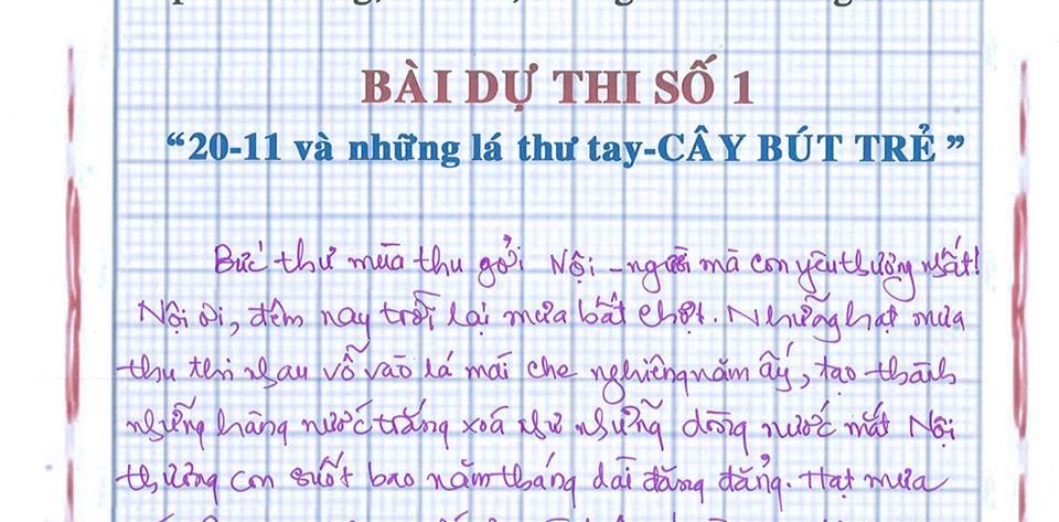 nqt - [20/11 và những lá thư tay]: Bức thư mùa thu gửi Nội...