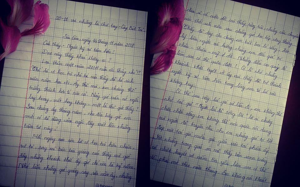 phường - [20/11 và những lá thư tay]: Gửi thầy - người kỹ sư tâm hồn