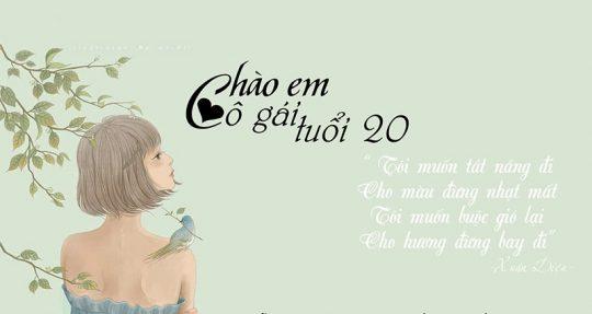 chao em co gai tuoi 20 e1573356527613 - Tự sự tuổi 20- tác giả Tịnh Kỳ
