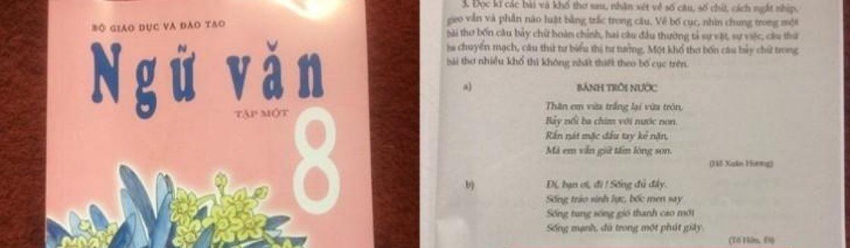 Sách Ngữ văn lớp 8 nhầm thơ Đoàn Văn Cừ là thơ Anh Thơ