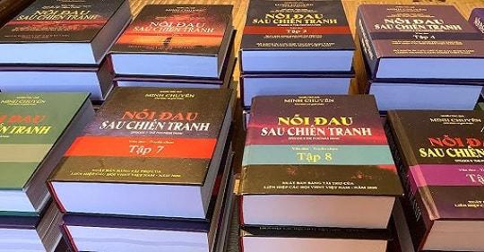 """hanh trinh ra doi bo sach noi dau sau chien tranh - Hành trình ra đời bộ sách """"Nỗi đau sau chiến tranh"""""""